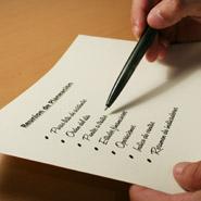 Pen making a list