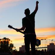 Guitarist Performing at Festival